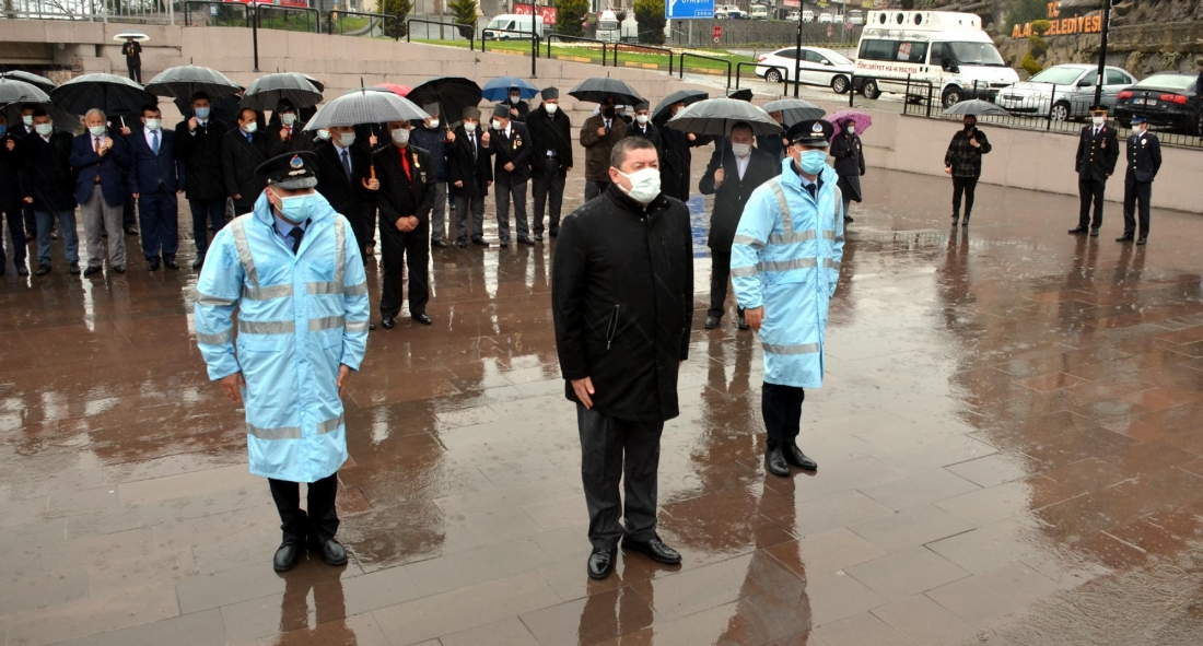 Çanakkale Zaferi'nin 106. yıl dönümü düzenlenen törenle kutlandı.