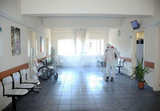 Devlet Hastanesi Dezenfekte Edildi...