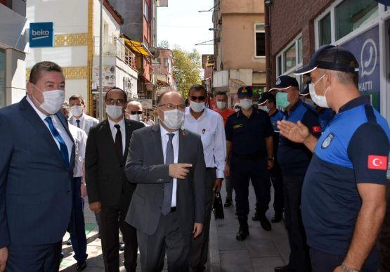 Vali Tutulmaz Alaplı Belediye Başkanı Nuri TEKİN'İ Ziyaret etti...