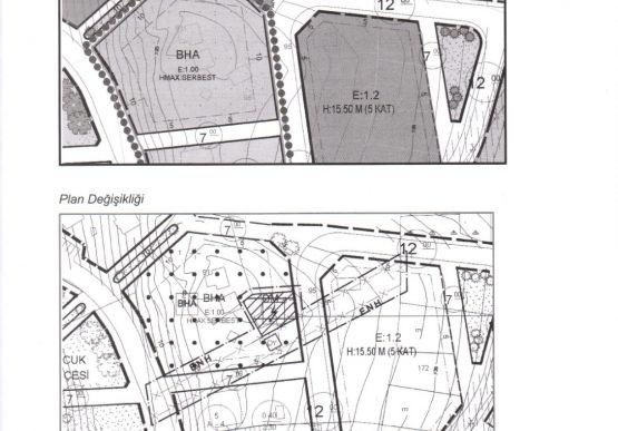 Yeni Siteler Mahallesi 103 Ada 34 nolu Parsel İmar Tadilatı İlanı
