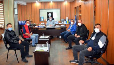 Alaplı Küçük Sanayi Sitesi Kooperatifi Başkanı Fatih Yener ve Sanayi Sitesi Esnafı, Alaplı Belediye Başkanı Nuri Tekin'i ziyaret etti.