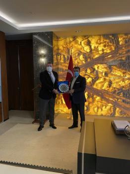 Belediye Başkanımız Sayın Nuri Tekin, Türk Metal Sendikası Genel Başkanı Pevrul Kavlak'ı ziyaret etti.